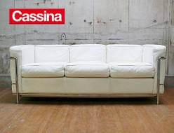 【Cassina】カッシーナ LC2 3Pソファ ホワイト 出張買取 東京都渋谷区